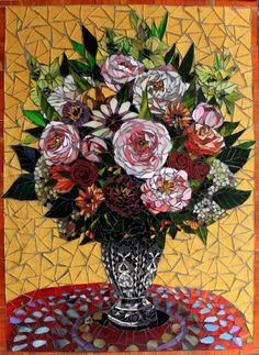 Mosaic Art Gallery Pictures of Floral Mosaics - Showcase Mosaics