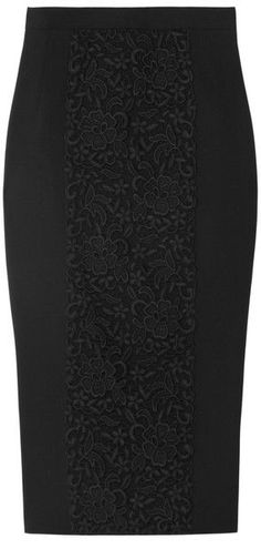 Gonne da fare DOLCE & GABBANA Lacepaneled Woolblend Pencil Skirt More
