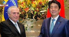 Em encontro com primeiro-ministro japonês, Temer disse que o Brasil vive um momento de recuperação.