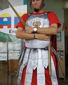 This instructable will show you how I made a Roman-esque Centurion/Legionnaire/soldier outfit.Some background: I previously made a version of this costume in about 5 hours with some tape, cardboard, and spray paint about 12 years ago. The costume was passable, but boring and bland. This year I decided I was going to re-make this version to be more interesting, and more visually appealing.I pulled together some ideas for texture, design, and flair to the costume, all while trying to keep it…