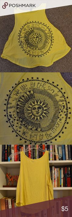 Live by sun, feel by moon graphic tank Live by sun, feel by moon graphic tank Windsor Tops