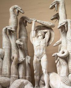 "57 Me gusta, 2 comentarios - Benoit (@benoitgram) en Instagram: ""#rudolphtegner #hercules and the #hydra #modernsculpture #marble #sculpture #statue #neoclassical…"""