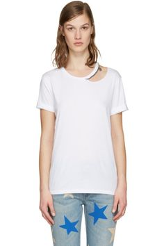 Stella McCartney - White Cut-Out Chain T-Shirt