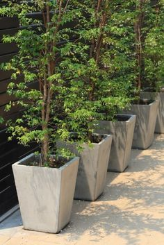 Relaxing Diy Concrete Garden Boxes Ideas To Make Your Home Yard Looks Awesome 32 Large Concrete Planters, Tree Planters, Concrete Pots, Concrete Garden, Diy Planters, Concrete Design, Outdoor Planters, Diy Wood Planter Box, Planter Ideas