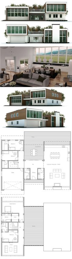 Container House - plan de maison - Who Else Wants Simple Step-By-Step Plans To Design And Build A Container Home From Scratch? Modern House Plans, Small House Plans, House Floor Plans, Building A Container Home, Container House Plans, Container Homes, House Blueprints, Sims House, Architecture Plan