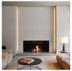 9 Fabulous Useful Ideas: Contemporary Bedroom Masculine contemporary interior foyer. Linear Fireplace, Home Fireplace, Fireplace Surrounds, Fireplace Lighting, Fireplace Ideas, Fireplace Modern, Farmhouse Fireplace, Simple Fireplace, Contemporary Fireplace Designs