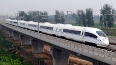 The Velaro in China with a speed of 394 km/h