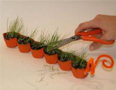 Grass Seed Caterpillar Craft