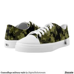 Camouflage military style Low-Top sneakers