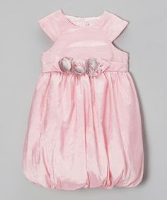 Take a look at this Pink Rosette Bubble Dress - Infant by Donita on #zulily today!