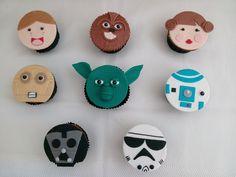 Cupcakes para festa com tema Star Wars (organizada pela Lima Limão)