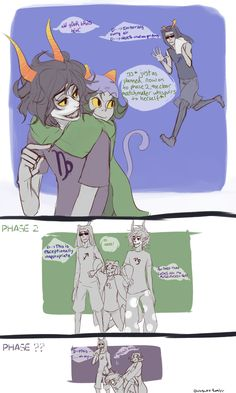 I once saw a headcanon where nepeta was always trying to hook up equius with someone because she didn't want him to be inside all day building robots