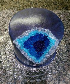 Mirror glaze geode cake