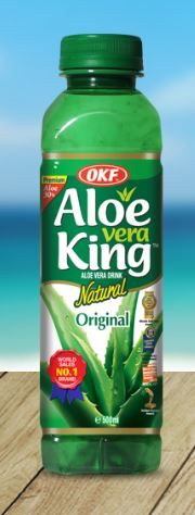 Refresco de Jugo de aloe vera KING-OKF con un 30 % de aloe