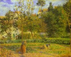 Vegetable Garden at Hermitage near Pontoise, 1879 - Camille Pissarro - WikiArt.org