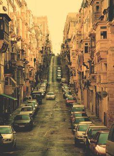 STREET IN VALETTA - THE CAPITAL OF MALTA. TAKEN BY PRETTYINSCARLET16.