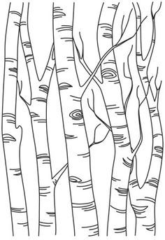 Stitch this pretty birch scene once, or repeat in a line to create a full forest scene. Downloads as a PDF. Use pattern transfer paper to trace design for hand-stitching.