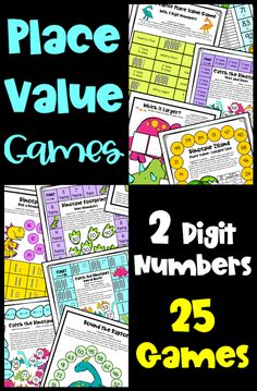 Place Value Games for 2 Digit Numbers - With Tens and Ones, 10 More 10 Less etc Math Board Games, Math Boards, Math Games, Math Activities, Place Value Games, Game Place, 3 Card Game, Teaching Place Values, Maths Display