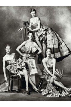 Moschino Fall 2014 Campaign Models: Karen Elson, Raquel Zimmermann, Saskia De Brauw, Carolyn Murphy Photographer: Steven Meisel