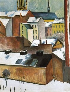 thusreluctant: St Mary's in the Snow by August Macke