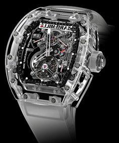 #Richard Mille Tourbillon RM 56-01 Sapphire Crystal