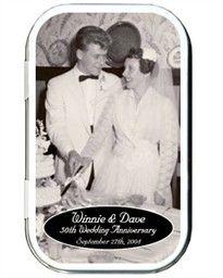 50th Anniversary Favors Photo Mint Tins