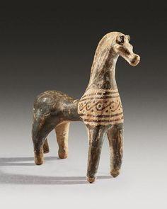 Geometric Terracotta Horse | 8th Century BC | Price $12,000.00 | Geometric Greek, Greek | Terracotta | Animals, Sculpture | eTiquities by Phoenix Ancient Art