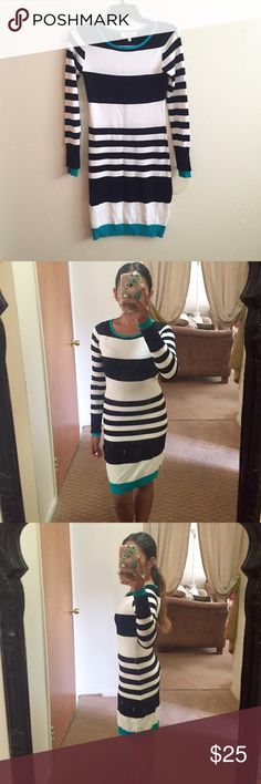 NEW Striped Sweater Dress Very comfortable and sexy striped sweater dress! New and never used. Midi. Size Small. Dresses Midi