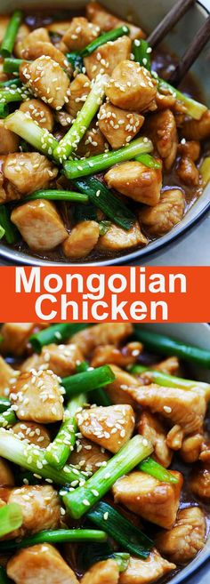 chinese meals Mongolian Chicken tender and juicy Chinese chicken stir-fry with scallions and brown sauce. This Mongolian Chicken recipe is so much better than takeout Chinese Chicken Stir Fry, Mongolian Chicken, Brown Sauce, Asian Recipes, Ethnic Recipes, Chinese Recipes, Chinese Desserts, Asian Foods, Asian Food Recipes
