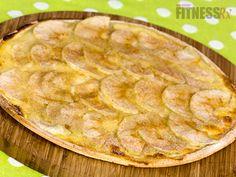 Healthy Apple Cinnamon Dessert Pizza, oh yeah baby! via FitnessRX #fitness