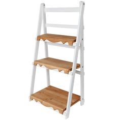 Zoxoro.com.au | MyGift Rustic Painted Wooden 3 Tier Ladder Standing Display / Book Organization Shelves for Home