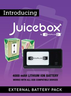 Juicebox External Battery Pack - Made from 100% real juice with no added sugar, Juicebox is a delicious way to ensure your most precious gadgets get their daily recommended servings of fruits and vegetables. Hand-picked at the peak of freshness, refuel your devices with 4000 mAh of power that even mom would approve. It even comes with a straw!