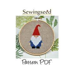 Gnome Cross Stitch Pattern, INSTANT DOWNLOAD. $5.00, via Etsy. @Katherine MacLennan