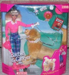 omg i totally had this as a child! Mattel Barbie Doll and Ginger the Dog Mattel Barbie, Barbie Dog, Barbie Doll Set, Play Barbie, Vintage Barbie Dolls, Barbie And Ken, Vintage Toys, Barbies Dolls, Barbie Clothes