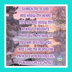Lord lead us along the path of everlasting! #Thursdayinspiration #leadusLord #pathofeverlasting Daily Bible Inspiration, Thursday Inspiration, Psalms 139 23 24, Anxious, Thats Not My, Lord, Thoughts, Ideas