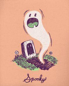 Spooky Ghostie Art Print