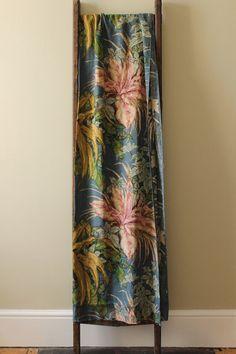Vintage 1950s 1960s floral abstrakt blau Baumwolle Leinen union gedruckten Polster Möbel Stoff Vorhang Textil Pick up Sticks Vintage