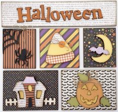 Halloween Seasonal Wood Shadow Box Kit- Wood Only (magnetic shadow box sold separately) Decor Crafts, Wood Crafts, Diy Home Decor, Paper Crafts, Mini Scrapbook Albums, Mini Albums, Halloween Cards, Halloween Themes, Wood Shadow Box