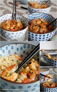 Riso basmati saltato con verdure, gamberi, zenzero e soia | Barbie magica cuoca - blog di cucina