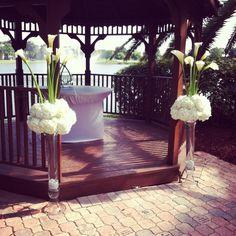 Ceremony pieces - Agape Flowers and Events #wedding #planning #events #flower #floral #decor #design #ideas #ilovemyjob #miami #florida #southflorida