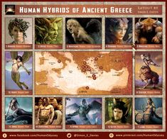 Human hybrids in ancient Greece
