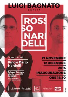 ROSSONARDELLI opere di Pino e Dario Nardelli exhibition 2015 #rossonardelli #art #exhibition #red #canvas
