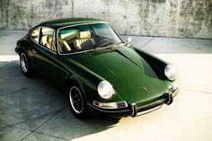 Green, vintage, Porsche | http://blog.generalknot.com/post/19349744203/they-dont-mix-paint-like-they-used-to