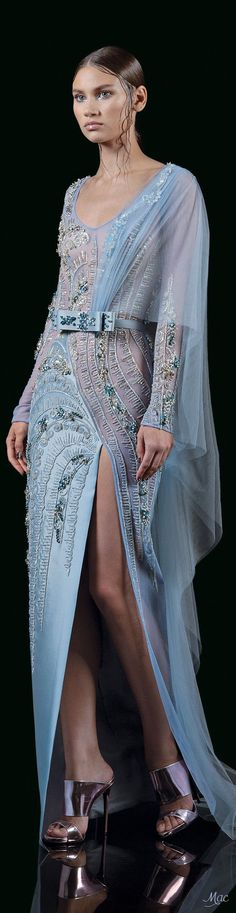 Mother of the Bride Blue Fashion, Fashion 2017, Couture Fashion, High Fashion, Fashion Dresses, Abaya Fashion, Beautiful Gowns, Beautiful Outfits, Cool Outfits