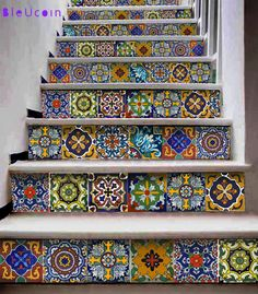 Tile/Wall/stair decal : Mexican style 11 DESIGNS by Bleucoin