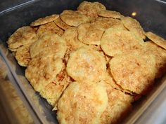 Low Carb Layla: Cheese Crackers   This blog has tons of great low carb recipes in every category, including dessert :-)