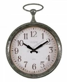 La Crosse Pocket Watch Style Frame 9 Inch Quartz Wall Clock New Battery  Operated