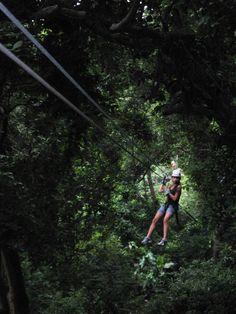 Canopy Park Zip-line in Roatan, Honduras