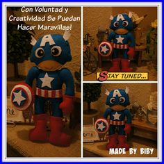 With determination and creativity can do wonders CAPTAIN AMERICA !: FELT