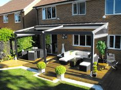 The all weather  terrace awning combines all the benefits of an awning with the elegance of a traditional pergola.
